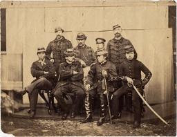 フランス軍士官と旧幕府脱走軍士官