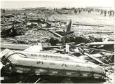 七重浜に打ち上げられた洞爺丸などの遺品