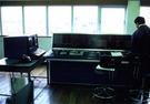 鋼材ヤード管理システムの制御室