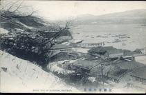 室蘭港の雪景 SNOW VIEW OF MURORAN, HOKKAIDO.