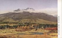 秋の妙高々原 朝陽に秀づる妙高の山容