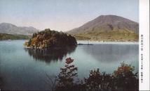 秋の妙高々原 野尻湖より黒姫・飯縄を眺む