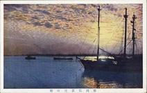 新潟信濃川の朝