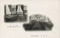 館長室 The Chief Librarian's Room.  会議室 Conference Room.