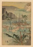 我兵鴨緑江を渡る図
